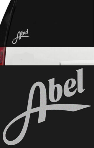 ABEL Fly Fishing Reel Outdoor Sports Vinyl Sticker Decal Truck Boat Silver