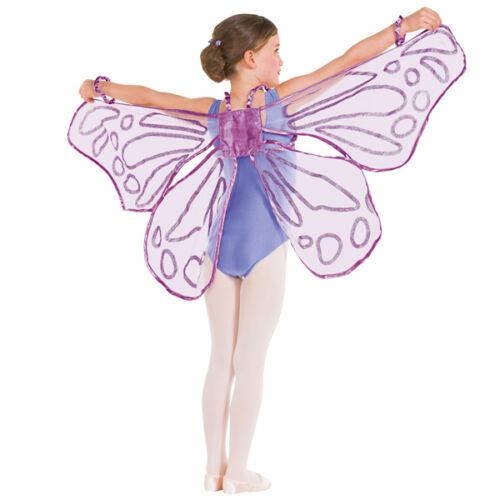 Purple Floaty Glitter Fairy Wings Butterfly Dance Costume