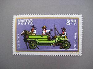 Vintage-collectible-stamp-Ford-T-1908-Hungarian-stamp-MAGYAR-POSTA-1970