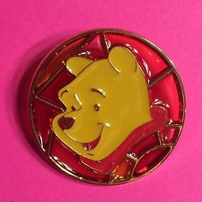 Winnie the Pooh, JDS Stained Glass Circle Disney Pin