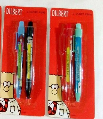 ***New*** Set of 2 Dilbert 2008 Comic Quote Pens by Innovative Designs