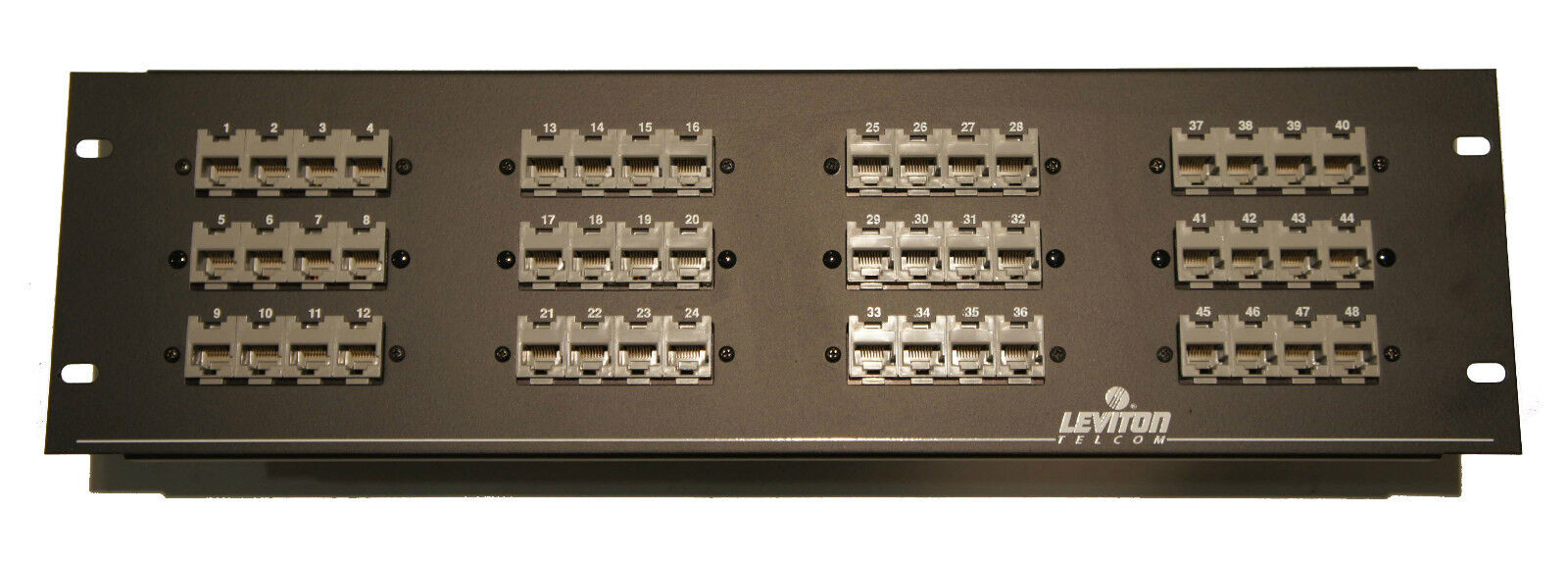 LEVITON Telcom Cat 49235B48 49235-B48 Infotap Patch Panel 48 Port ...