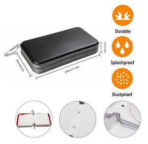 80-CD-DVD-Sacoche-disque-de-stockage-titulaire-portefeuille-manches-CD-ideal-pour-voiture-en-noir