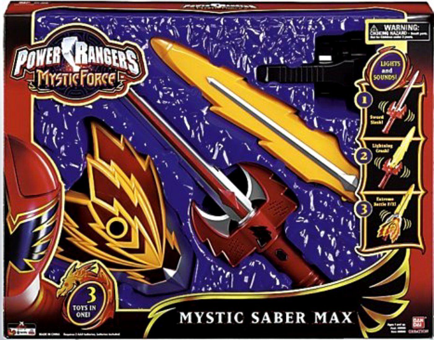 Power rangers mystische kraft mystic säbel max neue fabrik versiegelt, 2006