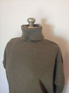 Forever-21-Women-039-s-Cropped-3-4-Sleeve-Green-Turtle-Neck-Sweater-Size-S-Small