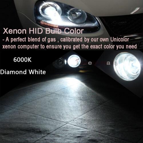 6000K Diamond White HB4 55W HID Head Light Slim Ballast Xenon Kit Bulbs 9006