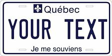 Quebec 1979 License Plate Personalized Auto Car Custom VEHICLE OR MOPED