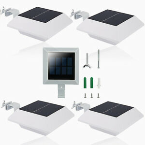 5 x 6led solar leuchte dachrinnen hausbeleuchtung au en solarlampe wandlampe ebay. Black Bedroom Furniture Sets. Home Design Ideas