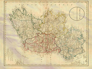 A4 Map Of Ireland.Ireland Map Russell 1811 Photo Print A4 Ebay