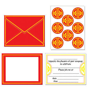 image is loading pack of 8 chinese invitations and seals chinese
