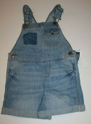 New OshKosh Girls Heart Bib Pocket Yellow Overalls Vestbak Shorts 3T 4T 5T