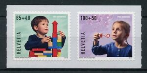 Switzerland-2018-MNH-Pro-Juventute-Happy-Childhood-2v-S-A-Set-Toys-Stamps