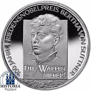 Deutschland-10-Euro-Bertha-von-Suttner-Silber-Gedenkmuenze-2005-Spiegelglanz