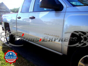 2014-2018-Silverado-Sierra-Double-Extended-Cab-Body-Side-Molding-Flat-Trim-Steel