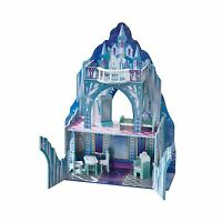 Teamson Kids - Ice Castle Wooden Doll House With 6 Pcs Furnitur... Free Shipping