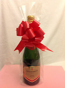 Image Is Loading Pk 10 Tall Clear Cellophane Wine Champagne Gift