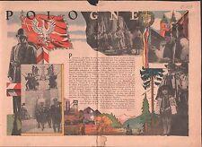 ALLÉGORIE POLOGNE POLAND FLAG ARMY  WWII ILLUSTRATION 1939