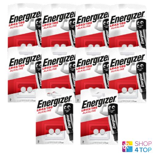 20 Energizer Alkaline lr43 186 batteries 1.5v g12 Exp 2023 new