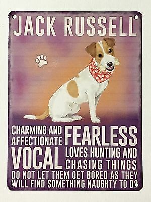 Jack Russell SML Tin Metal Wall Sign