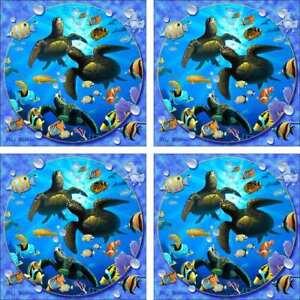 Undersea-Art-Accent-amp-Decor-Tile-Set-Wilkie-Fish-Ceramic-Backsplash-POV-JWA039AT