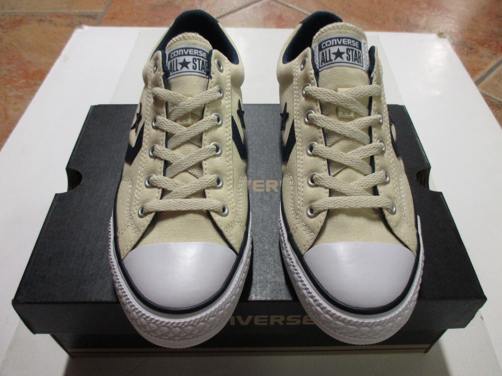 Converse Chuck All Star Player OX   Gr. 41  Natural Navy Weiß Model 156620C NEU