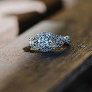 Elegant-925-Silver-Women-Wedding-Rings-Round-Cut-White-Sapphire-Size-6-10