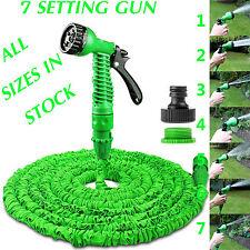 EXPANDABLE GARDEN HOSE FLEXIBLE 25/50/75/100 PIPE EXPANDING WITH SPRAY GUN GREEN