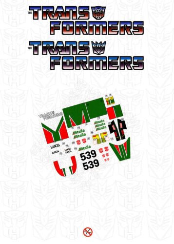 ++ Replacement sticker//label//decal sheet for Transformers G1 Wheeljack DIE CUT