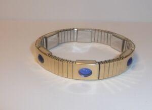 Magor Magnetarmband Mit 6 Schmucksteinen Farbe Blau Besetzt