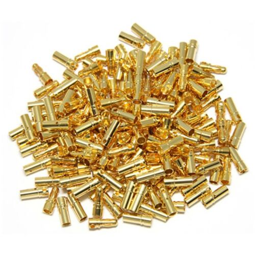50pairs 3.5mm Gold Bullet Connector Male Female Plug for Battery ESC Motor