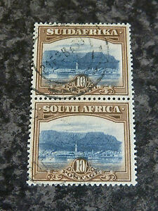 SOUTH-AFRICA-POSTAGE-STAMPS-SG39-10-VERTICAL-PAIR-VERY-FINE-USED