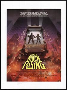 BLACK-MOON-RISING-Original-1987-Trade-print-AD-promo-poster-JOHN-CARPENTER