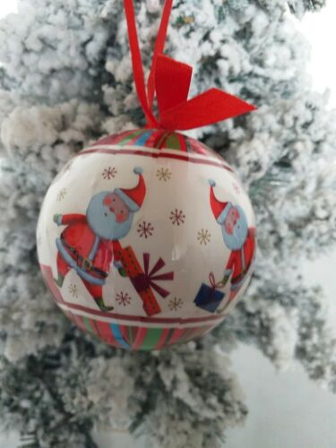 2 SETS OF 6 SANTA BAUBLES in GIFT BOXES