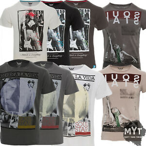 New-Mens-Soul-Star-Wagga-Pinup-Graphic-Printed-T-Shirt-Casual-Cotton-Top