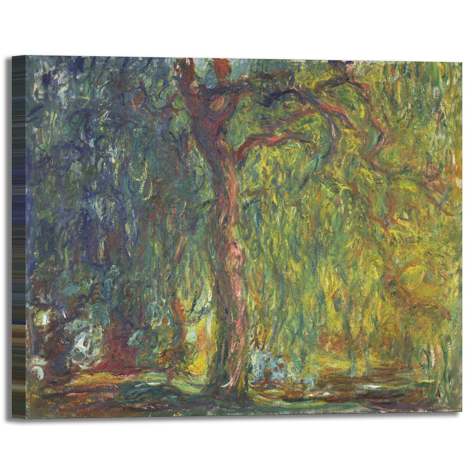 Monet salice piangente arRouge design quadro stampa tela dipinto telaio arRouge piangente o casa 9991c7