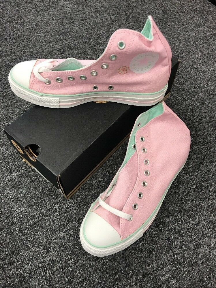 Converse Vintage NWB Chuck Taylor All Star Past RD HI 1S168 Pink/Green 9