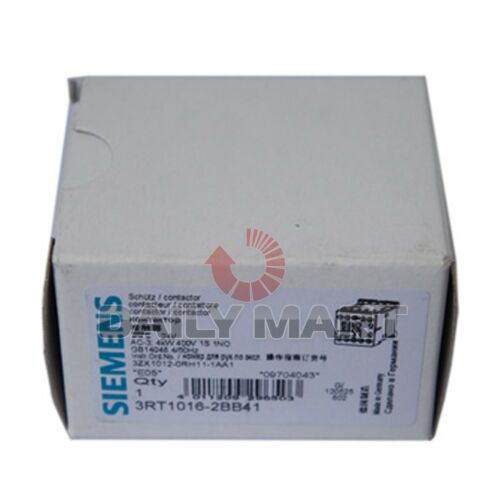 SIEMENS NEW 3RT1016-2BB41 PLC CONTACTOR 3-POLE 24VDC 9A AUXILIARY CONTACTS