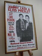 ELVIS PRESLEY & JOHNNY CASH MISSISSIPPI FRAMED CONCERT TOUR POSTER