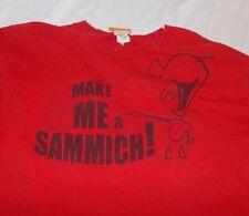 Tee T Shirt Invader Zim Gir Red Make Me A Sammich VTG Cartoon Nickelodeon M AJA