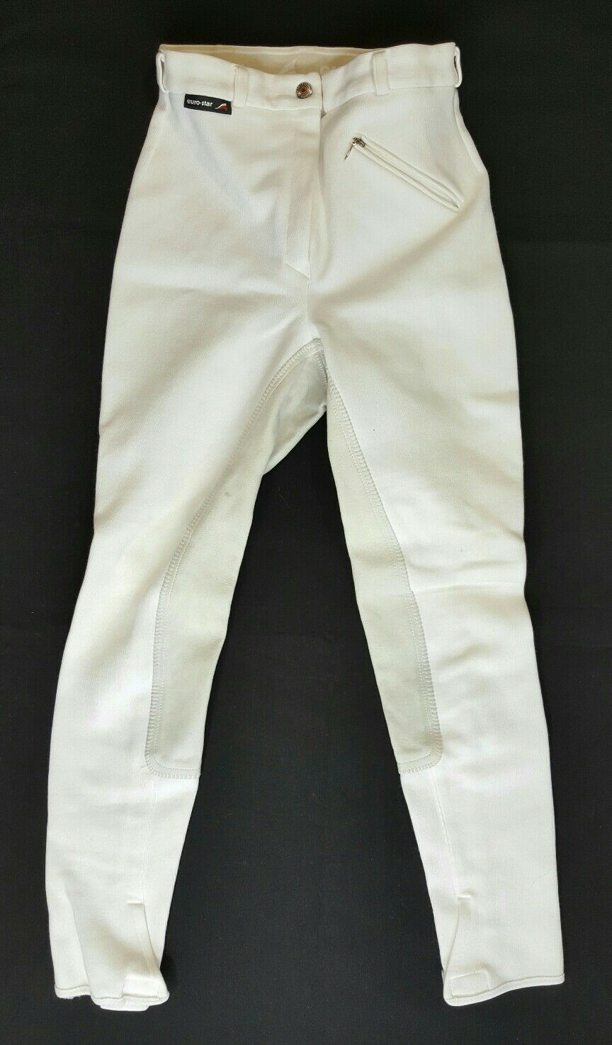 Pre-owned White Euro-Star Full Seat Breeches Husar Size 38 Horse Riding