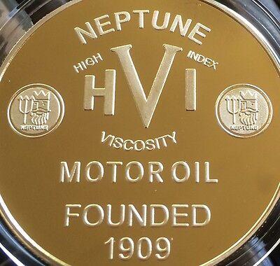 Neptune Motor Oil .999 24k GOLD 1oz Petroleum series 7 Coin Trident Petrol New