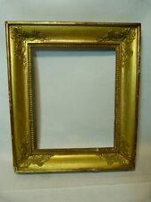 Cadre doré Restauration aux arabesques aux angles 19ème – 23 x 19cm