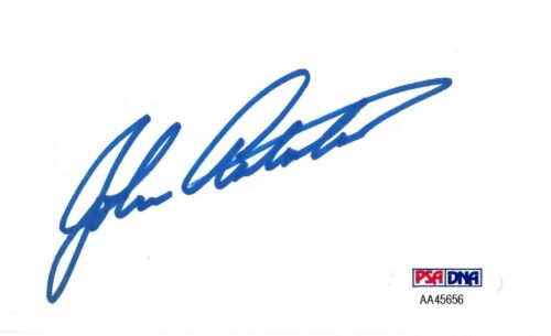 John Ashton Signed 3x5 Index Card PSA/DNA COA Autograph Beverly Hills Cop Uncle