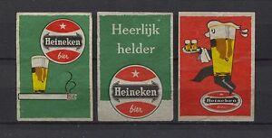 Nice-Lot-Heineken-Beer-Vintage-Matchbox-Labels