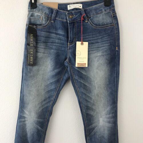 Nwt Blue Jeans Mid Rise Skinny Ankle 9 Distressed Taglia FqRUrF