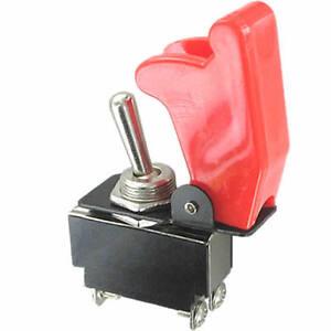Kippschalter-2x-EIN-AUS-schaltend-rote-Sicherheitskappe-250V-10A-AC-28V-10A-DC