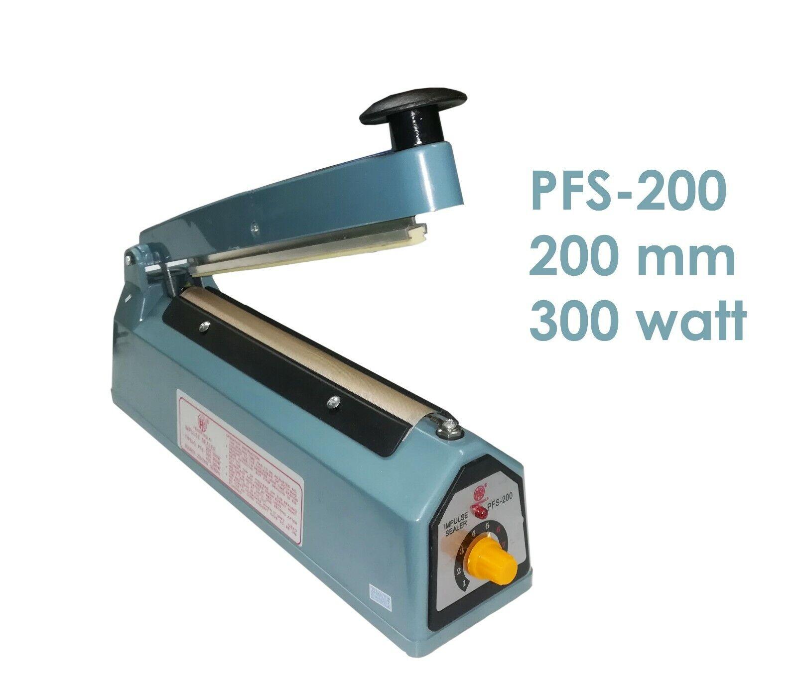MACCHINA SIGILLA BUSTE SACCHETTI SIGILLATRICE PLASTICA A CALDO PFS-200