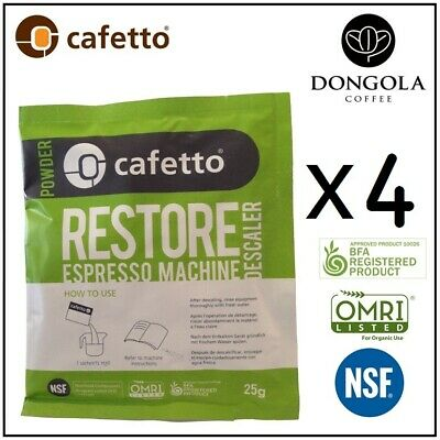 DELONGHI Restore Descaler Espresso Coffee Machine Eco Descaling Sachets Cafetto