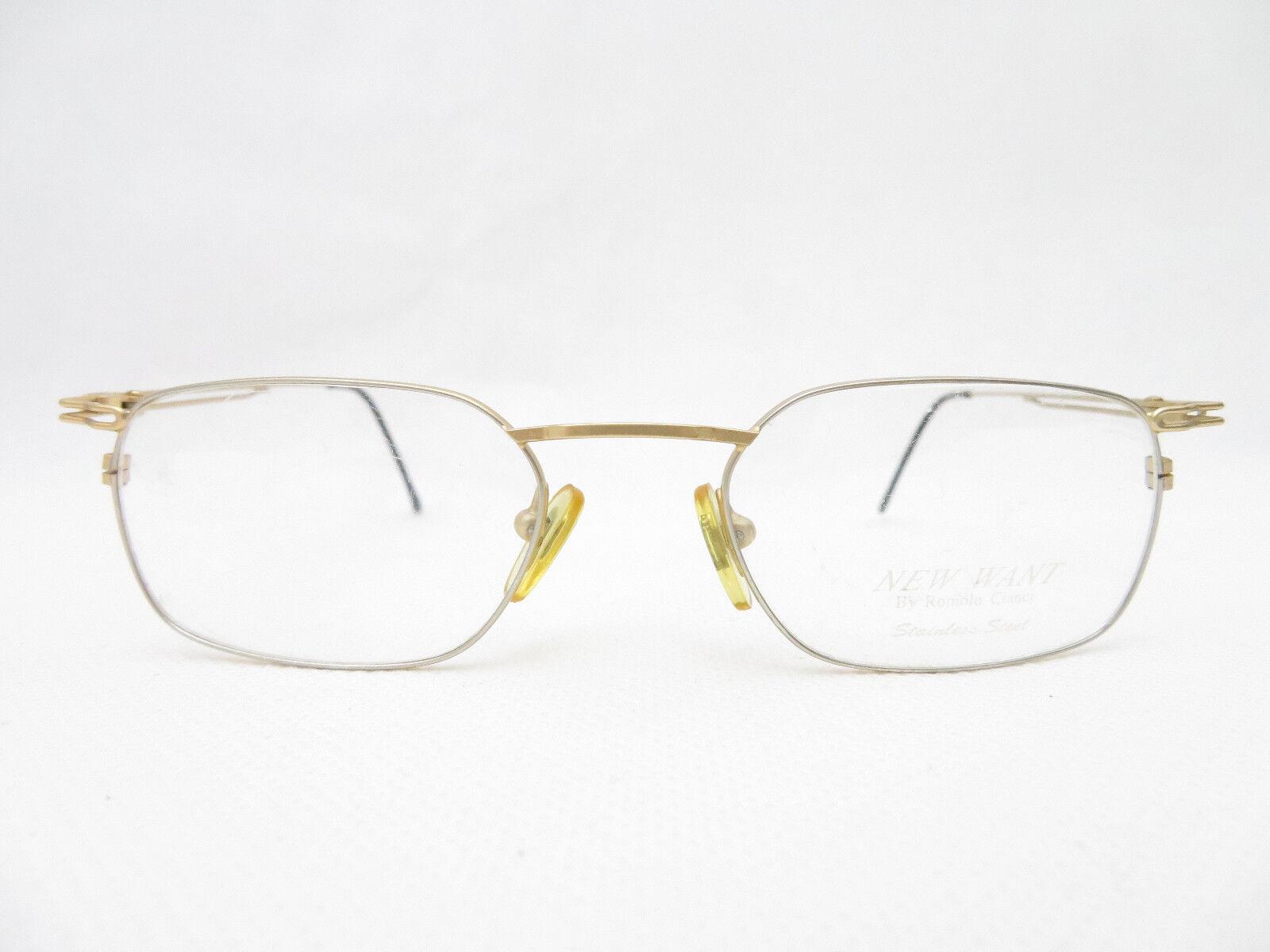 Brille Romolo Cianci 48 20 Herren Herren Herren Brillenfassung Designer leicht silber Gold NEU   Hohe Qualität Und Geringen Overhead    Verkauf Online-Shop    Neuankömmling  1ecb86