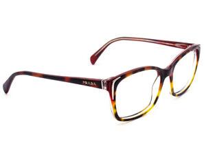 03a9ff3984d2 Prada Eyeglasses SPR 020 FAK-0A5 Red Tortoise Fade Frame Italy 54 ...
